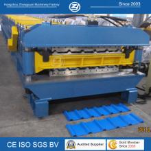 Hydraulische automatisch verzinkte Wellpappe Doppelschicht-Rollenformmaschine