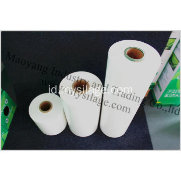 LLDPE Silage Stretch Film Lebar750 Warna Putih