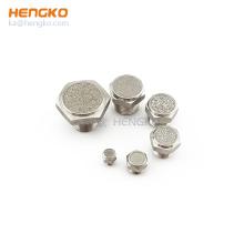 stainless steel bronze brass sintered porous metal pneumatic breather vent filter air muffler silencer