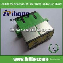 SC Adaptador duplex de fibra óptica com fornecimento do fabricante do obturador com qualidade de alta qualidade
