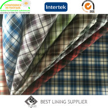 100% Polyester Men′s Jacket Liner Lining Fabric Check Lining