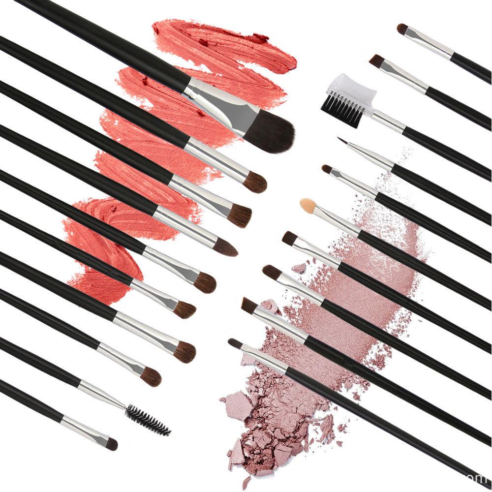 20 PCS Horse Hair Wooden Handle Makeup Brushes sets 2