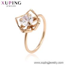15477 xuping 18k позолоченный дизайн моды имитация кристалл кольцо для женщин