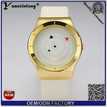 Vogue Ladies Watch Casual Leather Silicon High Quality Lady Couple Montres Gold Plate Break Chronograph Watch Men