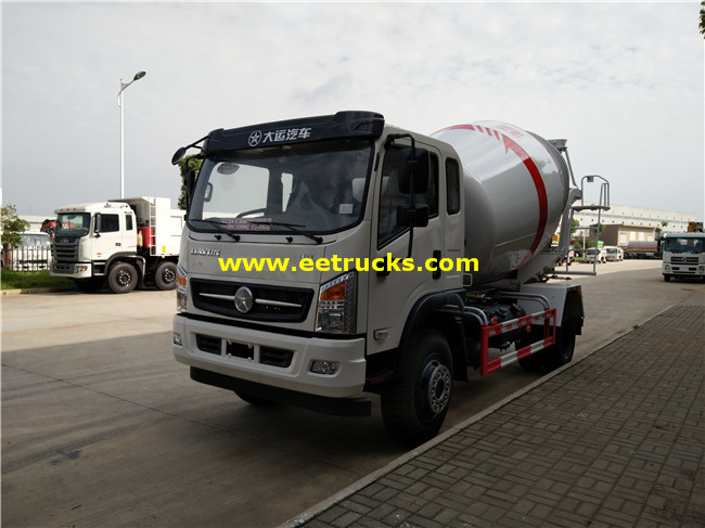 3000L Concrete Mixing Trucks