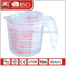 Vente en gros meilleur qualité 500ML en plastique personnalisé tasses à mesurer