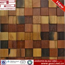новые современные смешанные деревянная плитка бар украшения стены мозаика плитка