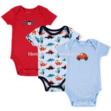 100% organic christmas super suitable onesie jumpsuits red blue color cartoon soft baby cotton romper