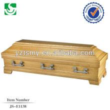 boîte de cercueil de noix de pécan solide vente chaude