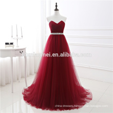 Wholesale Red Wine Color Toast Suit Pleats Ruching Puffy Chiffon Strapless Formal Mixi Evening Dress Women For Bridal