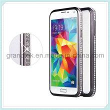 Moda Bling Diamante Metal marco de parachoques caso para Samsung Galaxy S5 I9600