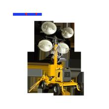 Torre de iluminación móvil de lámpara de halogenuros metálicos 4X1000W