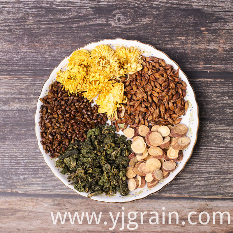 Cassia seed mulberry leaf and chrysanthemum tea