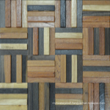 South Africa Style Outdoor Building Wood Mosaic Tile Wall