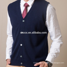 16STC8215 mens cardigan pure cashmere knit sweater vest