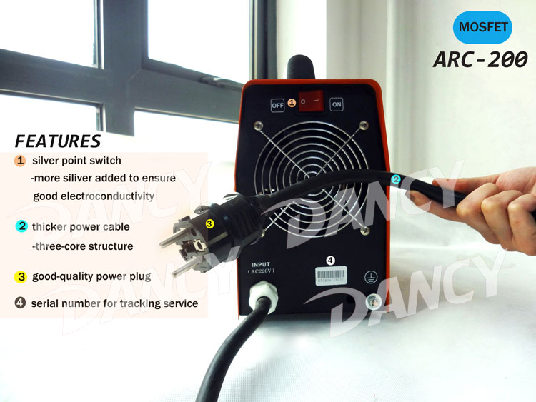 ARC 200 mosfet welder fan and plug