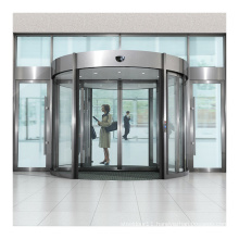 CE approved elegant 2 wing automatic glass revolving door with high quality