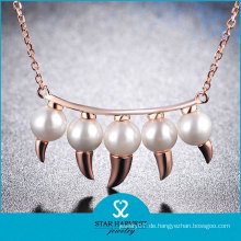 Mode-Stil klar Edelstein Dame Hochzeit Halskette Set (N-0330)