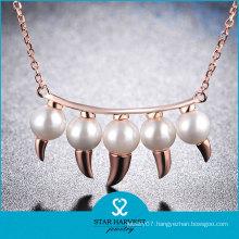 Fashion Style Clear Gemstone Lady Wedding Necklace Set (N-0330)