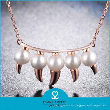 Estilo de la moda Clear Gemstone Lady Wedding Necklace Set (N-0330)