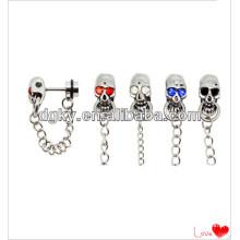 Stainless steel skull helix cartilage ear cuff ear chain jewelry