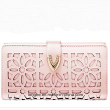Promotional Vintage Flower Punched Korean Casual Purse (ZX10164)