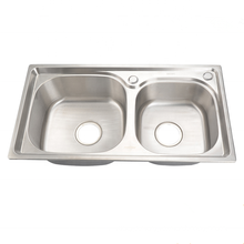 7843 Factory price double drainer double bowl Stainless Steel Undermount Apartment Size Kitchen Sinks