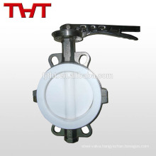 Wafer PTFE seat butterfly valve with union
