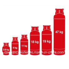 Réservoir de gaz de cuisson LPG standard de qualité supérieure de 5 kg GB