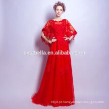 Vestidos de noiva com elegantes vestidos de vestido de bola elegante vermelho 2017 Últimos vestidos de festa longa Fábrica da China Vermelha