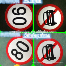 Manufacturer Laminated Printable Reflective Road Traffic Signs ,car speed limit signs