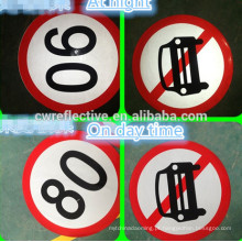Sinais de tráfego rodoviário reflexivos imprimíveis laminados fabricante, sinais do limite de velocidade do carro