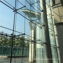 Spider Glass Fitting Curtain Wall System Structural Glazing Point Supported Fixing Suspension Rope Rib Bolted Facade