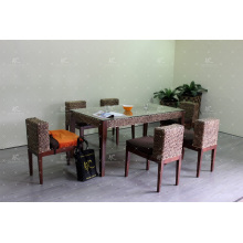 Diseño compacto de diseño sólido de jacinto de agua para muebles de interior de mimbre natural
