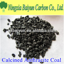 Precio del carbón de antracita calcinado aditivo de 3-5 mm de carbono