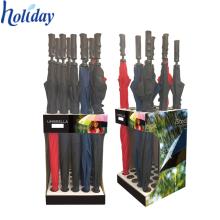 Прочный пространство заставка стойки зонт держатель стойки дисплея,новый дизайн этаж стенд красочный удобство зонтик стенд