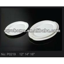 Placa de porcelana ovalada-porcelana guangzhou P0219