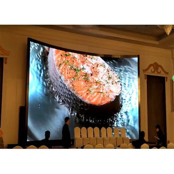 Indoor Curved LED Display with Seamless Combination Cabinet