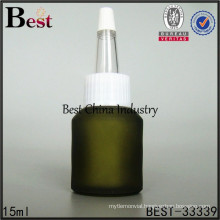 recycled glass bottle unique cap, 15ml plastic eye dropper glass bottles, silk printing service