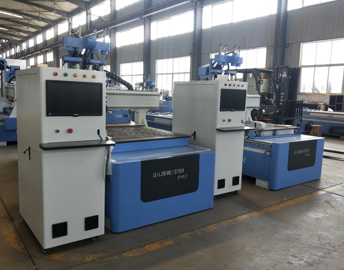 cnc router machine three spindles