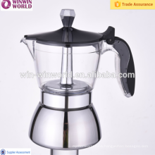 New Products Stainless Steel Stove Top Espresso Coffee Maker With Smooth Plastic Handle