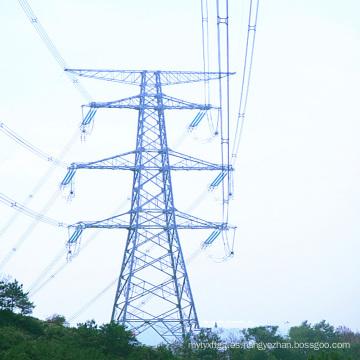 Torre galvanizada de doble circuito 220 kV