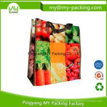 Sac à provisions tissé fort d'emballage de pp de prix bon marché