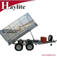 8x5 suelda completamente el OEM galvanizado del remolque de la caja de volquete del tractor del tractor fábrica