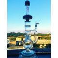 Tigela de cor alta cinzeiro de vidro de artesanato shisha cachimbo de água borosilicato reciclador de água de vidro inventário para cachimbo de fumar cachimbo de água