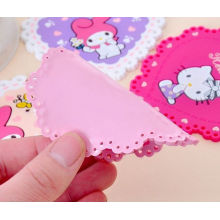 High Quality Printing Flower Silicone Cup Mat, Table Placemat