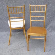 Golden Wedding Furniture Chairs with Seat Cushion (YC-A21-11)