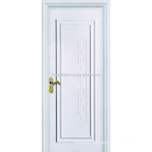 One Panel Swing White Painted Veneered Interior Hotel MDF Doors