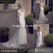 Высокое качество Гуанчжоу Фабрика реальный образец последние Алибаба короткое свадебное платье