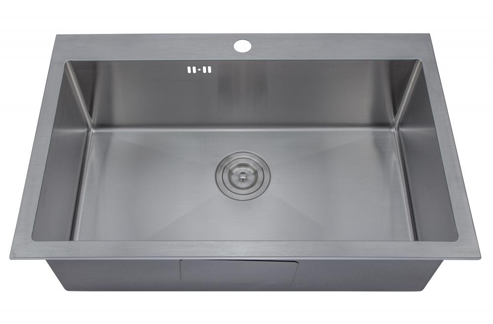 stainless steel sink top mount